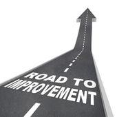 Road to Improvement - Words on Street — Stock Photo