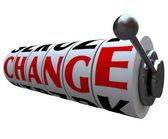 Change Word on Slot Machine Wheels — Stock Photo