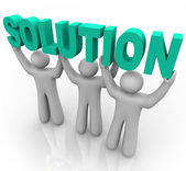 Solution - Lifting the Word — Stock Photo