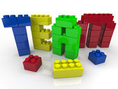 Team Building with Toy Blocks — Stock Photo