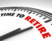 Time to Retire - Clock — Stock Photo