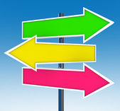 Three Arrow Signs - Which Option Do You Choose? — Stock Photo