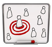 Targeted Person - Dry Erase Board with Red Marker — Stock Photo