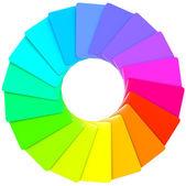 Patrón espiral colores swatch — Foto de Stock
