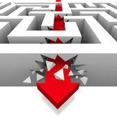 Breaking Through the Maze to Freedom — Stock Photo