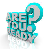 Are You Ready - 3D Words — Stock Photo