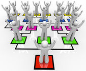 Rallying the Troops - Organization Chart — Stock Photo