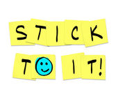 Stick To It - Words on Yellow Sticky Notes — Stock Photo