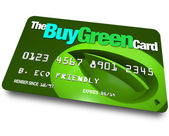 Credit Card - Buy Green — Stock Photo