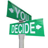 You Decide - Two-Way Street Sign — Foto de Stock