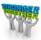 Stronger Together - Lifting the Words — Stock Photo