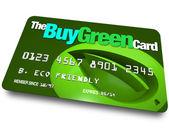 Credit Card - Buy Green — Stock Photo