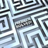 Maze - Problem Solved — Stock Photo