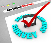 Online Survey - Web Screen — Stock Photo