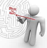 Breaking the Rules - Arrow Through Maze — Stock Photo