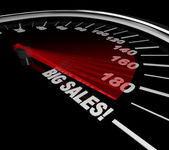 Big Sales - Words on Speedometer — Stock Photo