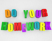 Do Your Homework - Colorful Magnets — Stock Photo