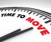 Time to Move - Clock — Stock Photo