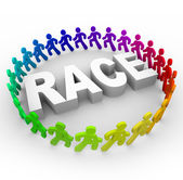 Race - Runners Around World — Stock Photo