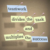 Teamwork Divides the Task and Multiplies the Success — Stock Photo