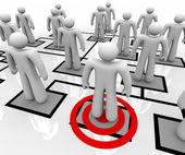 Targeted Employee in Organizational Chart — Stock Photo