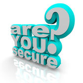 Are You Secure - 3d Words — Stock Photo