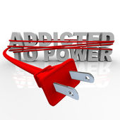 Addicted to Power - Cord and Plug — Stock Photo