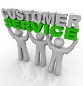 Servicio al cliente - las palabras de elevación — Foto de Stock