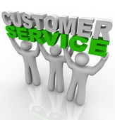 Customer Service - Lifting the Words — Stock Photo