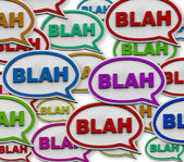 Blah - Speech Bubble Background — Stock Photo