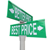 Better and Best Price - Two-Way Street Sign — Stock Photo