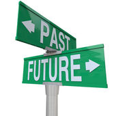 Past and Future - Two-Way Street Sign — Stock Photo