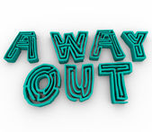 A Way Out - Maze Words — Stock Photo