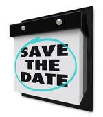 Save the ημερομηνία - ημερολόγιο τοίχου — Φωτογραφία Αρχείου