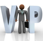 VIP - Businesswoman in Word — Stock Photo