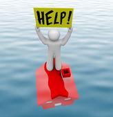 Homme debout sur sous-marin accueil — Photo