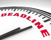 Deadline - Word on Clock — Stock Photo