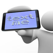 Text Me - Person Holding Smart Phone — Fotografia Stock