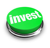 Invest - Green Button — Stock Photo