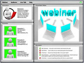 Webinar - Sample Screen Shot — Stock Photo
