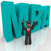 Mba - Letters and Business Man — Stock Photo