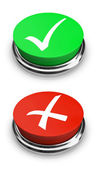 Green or Red - Yes or No - Buttons — Stock Photo