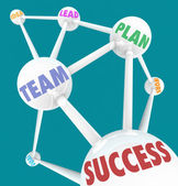 Success Words - Connected Spheres — Stock Photo