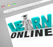 Learn Online - Web Screen — Stock Photo