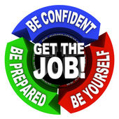 Get the Job - Arrows Diagram — Stock Photo