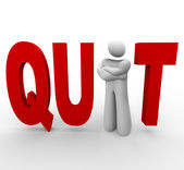 Quit - man in word — Foto de Stock