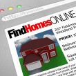 Find Homes Online - Web Screen — Stock Photo