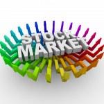 Stock Market - Arrows Rising — Stock Photo