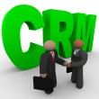 CRM - Business Handshake — Stock Photo #4440298