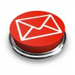 Email Envelope - Red Button — Stock Photo